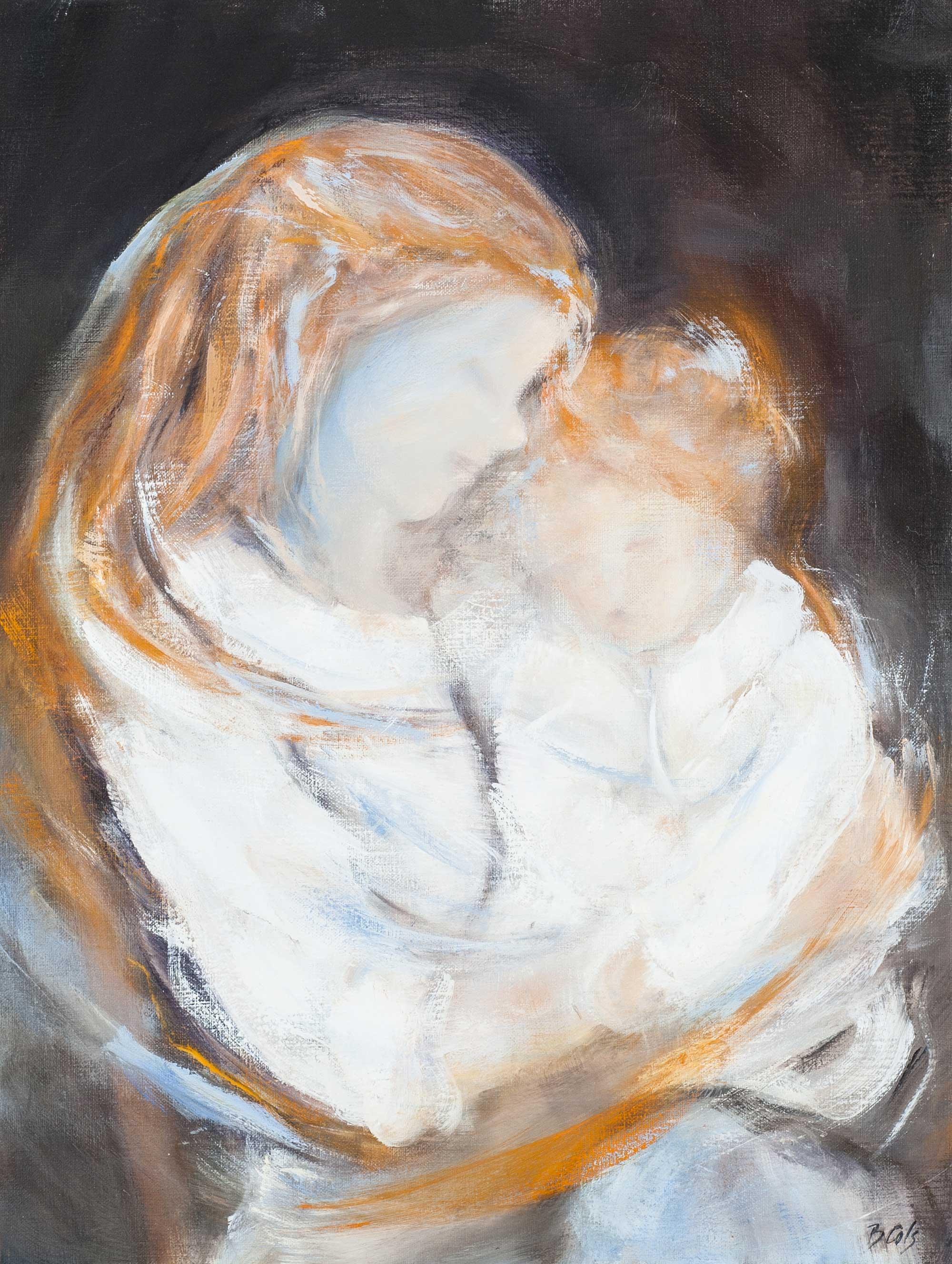 Julie dans les bras