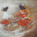 Peinture à l'huile - La ronde