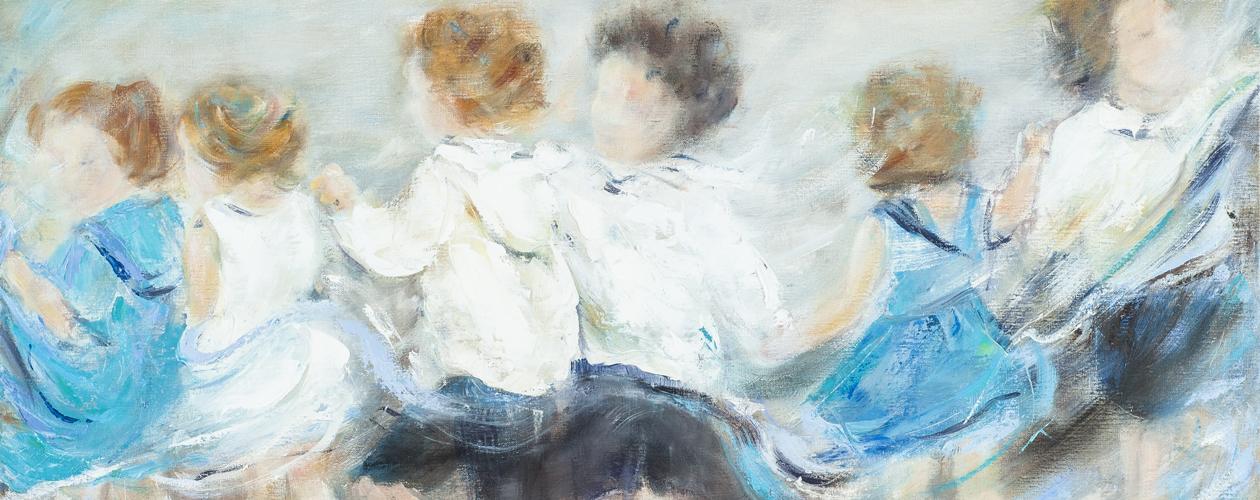 Peinture à l'huile - La farandole